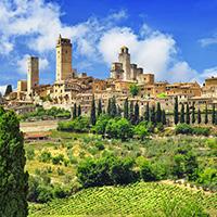 Le Chianti, Sienne et San Gimignano