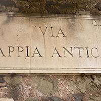 Via Appia antica road sign, Rome